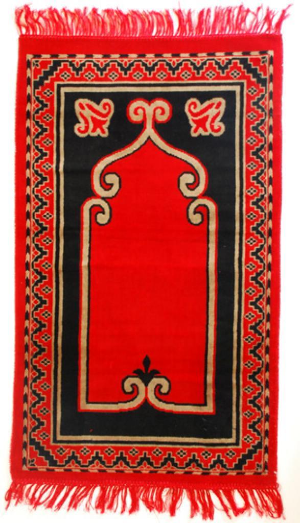 Islamic Prayer Rug Red Scroll ii684