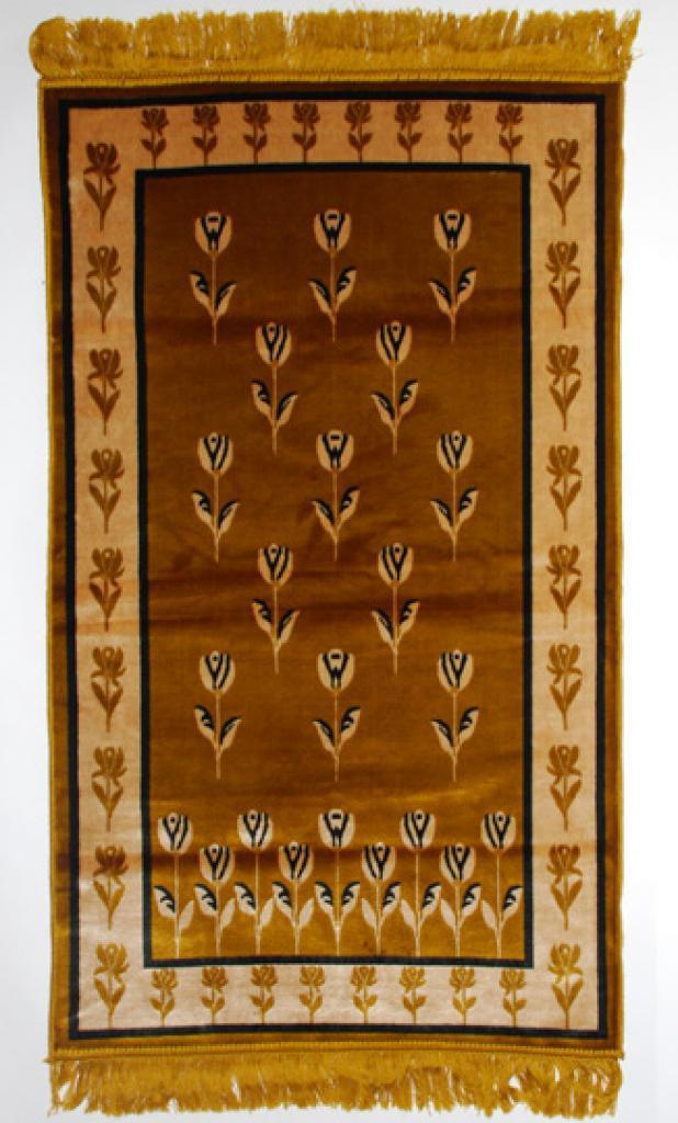 Islamic Prayer Rug Gold Floral   ii686