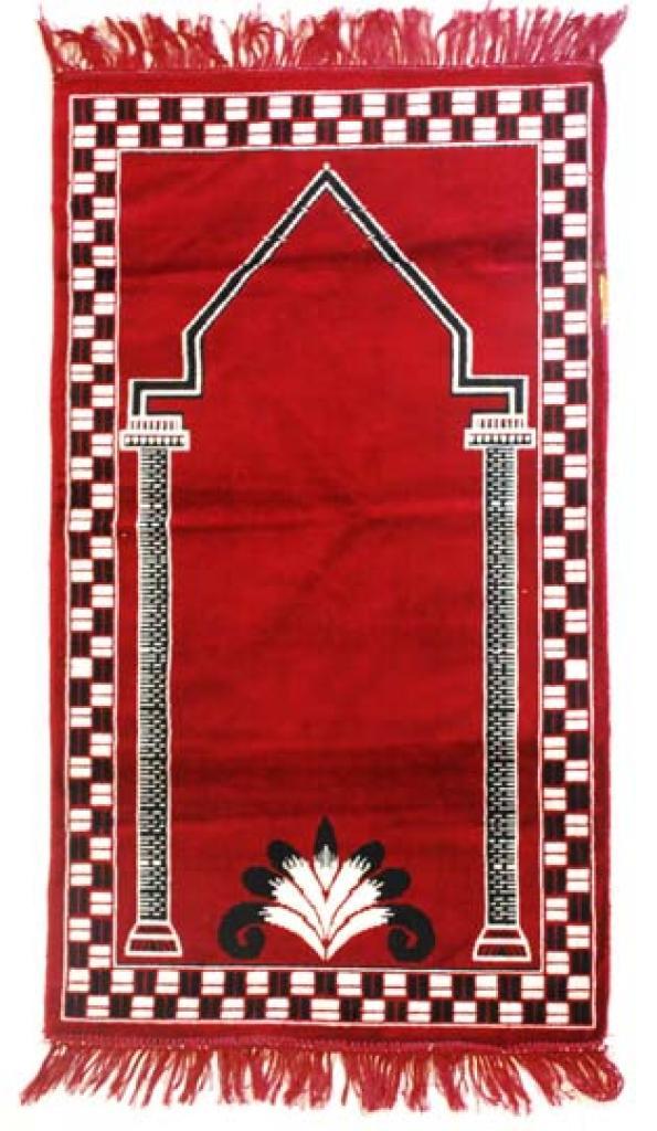 Islamic Prayer Rug Red Columns ii687