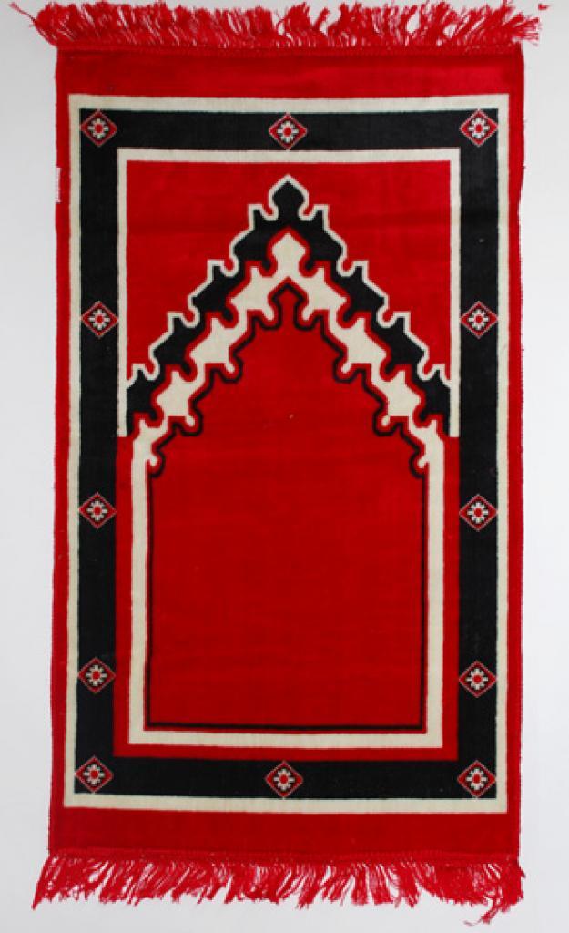 Islamic Prayer Rug Red Abstract ii688