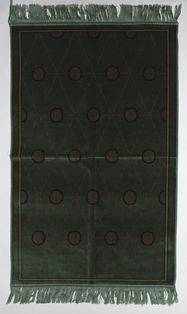Green Diamonds Prayer Rug ii800