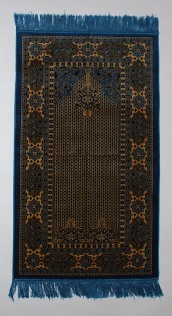 Blue Diamond Pattern Prayer Rug ii801