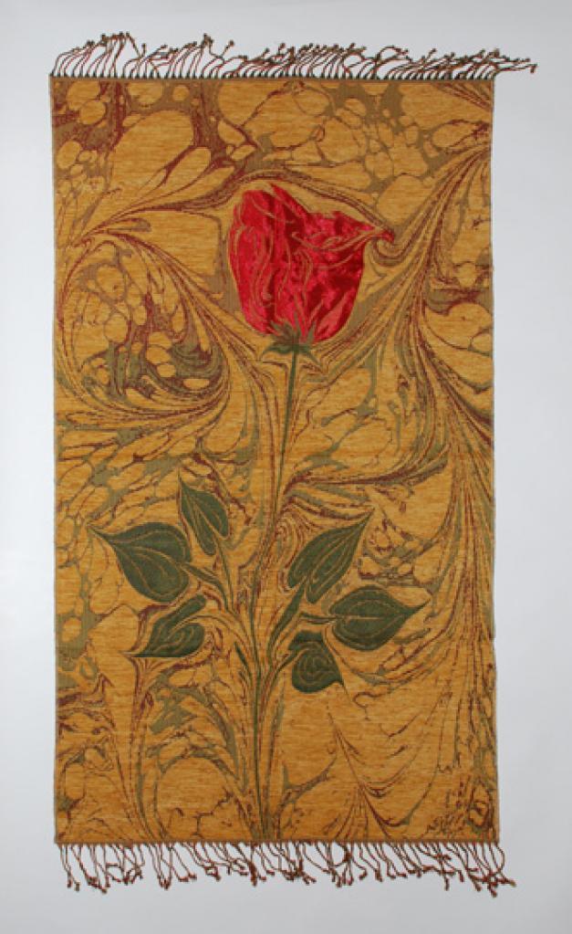 Woven Red Rose Prayer Mat  ii826