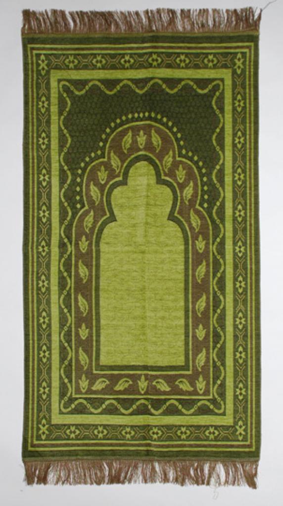 Double Border Woven Design Prayer Mat  ii833