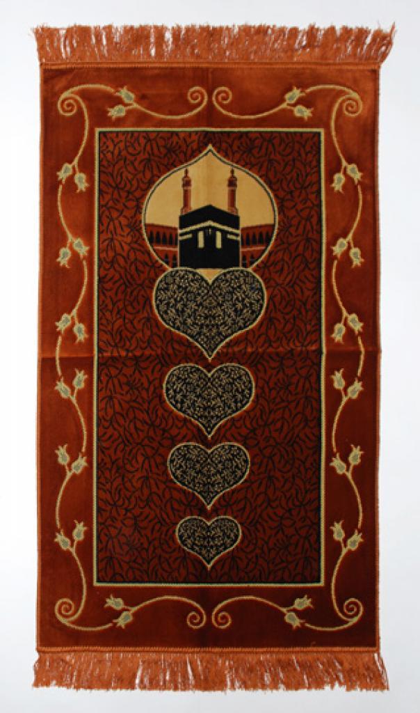 Hearts Pattern Islamic Prayer Rug ii837