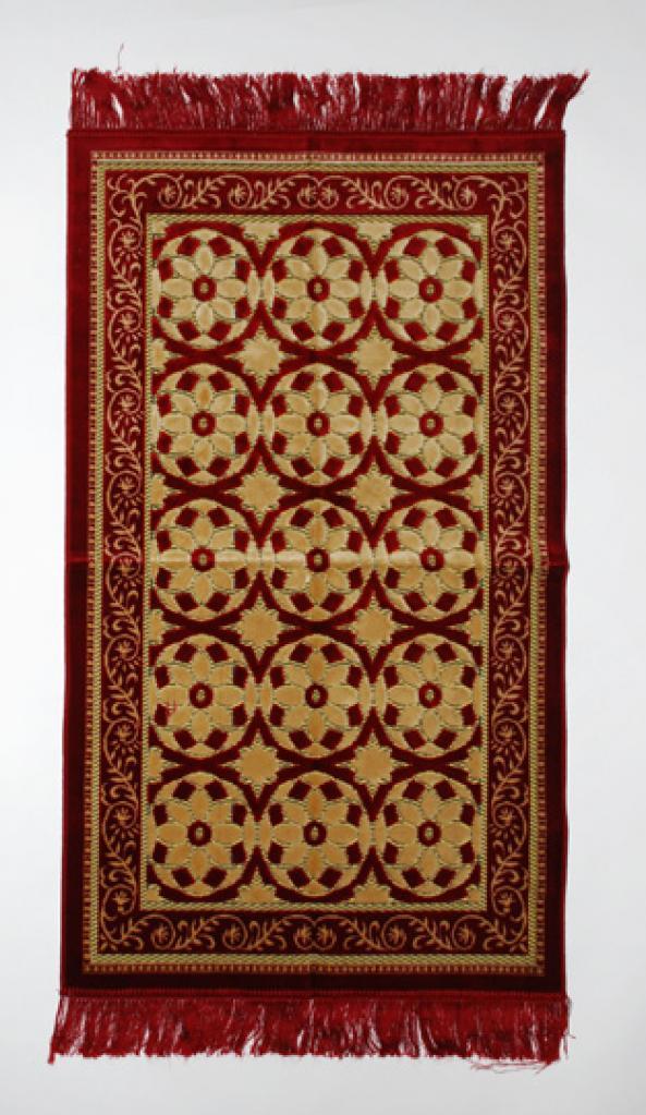 Circular Floral Pattern Islamic Prayer Rug ii841
