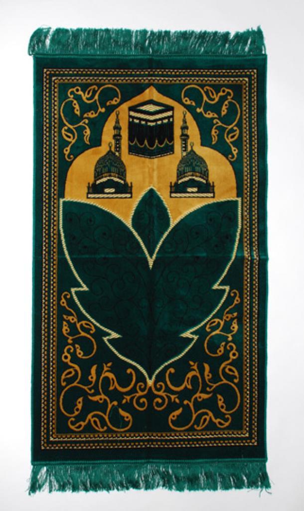 Large Leaves Pattern Islamic Prayer Rug ii847
