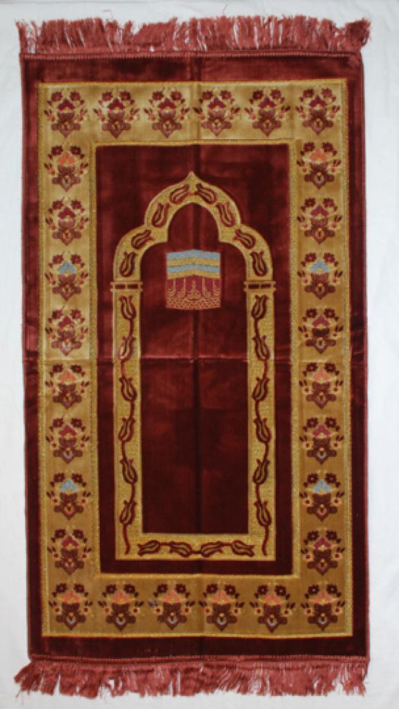 Double Border Kabba Prayer Rug ii906