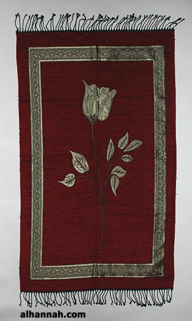 Woven Golden Rose Pattern Prayer Mat ii921