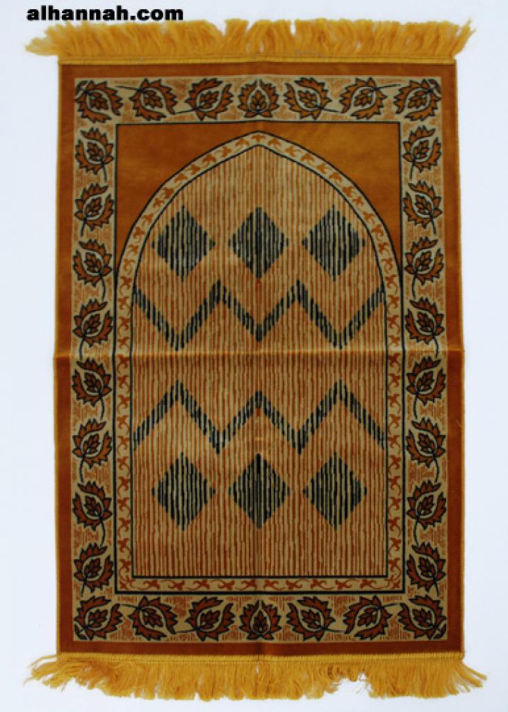 Geometric Border Deluxe Prayer Rug ii938