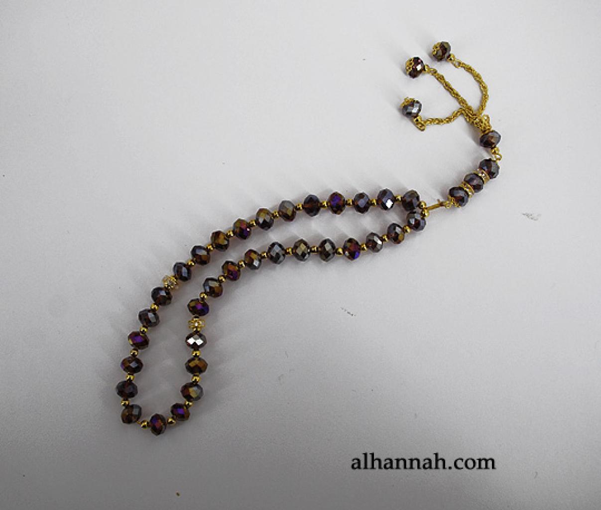 Premium Prismatic Cut-Crystal Prayer Beads  ii965