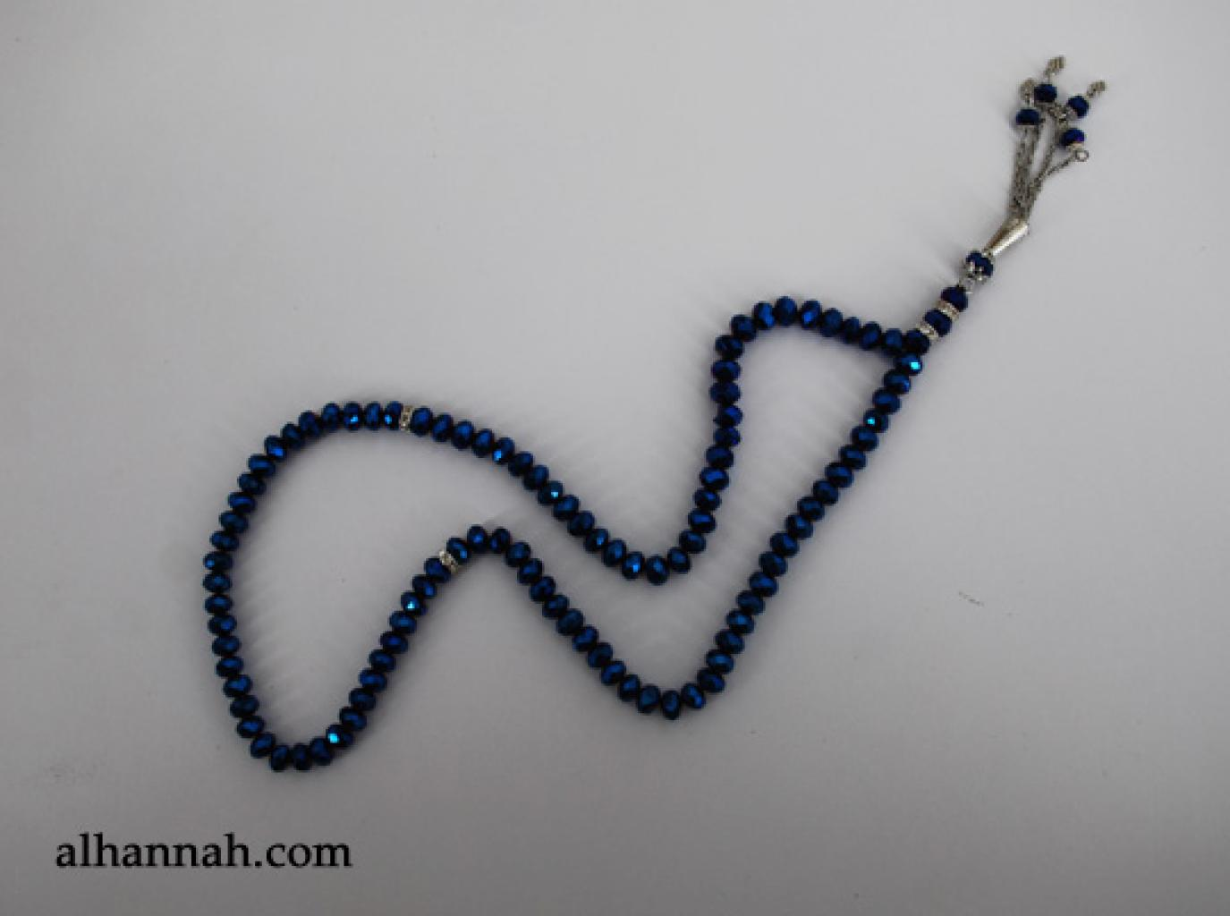 Premium Metallic Cut-Crystal Prayer Beads ii971