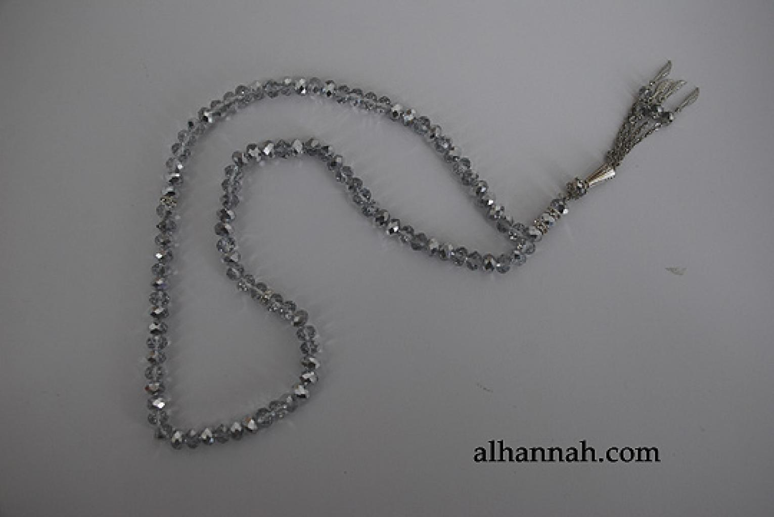 Premium Metallic Cut-Crystal Prayer Beads ii973