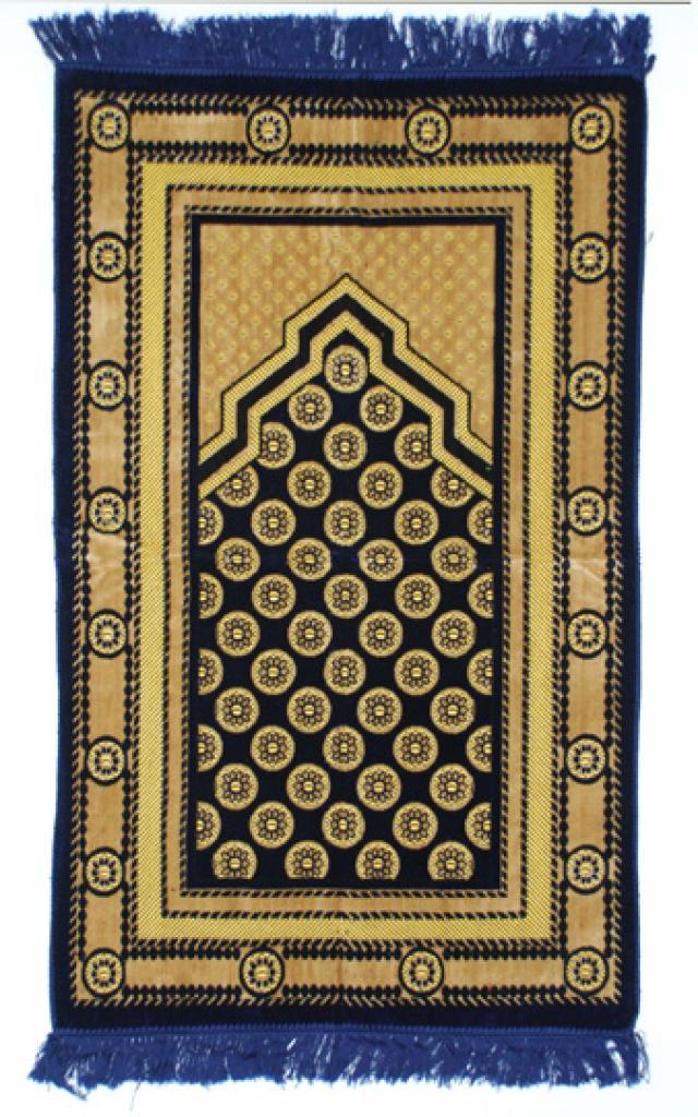 Embroidered Geometric Pattern Woven Turkish Prayer Rug  ii979