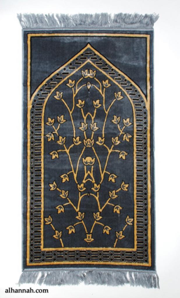 Foliage Pattern Woven Turkish Prayer Rug  ii984