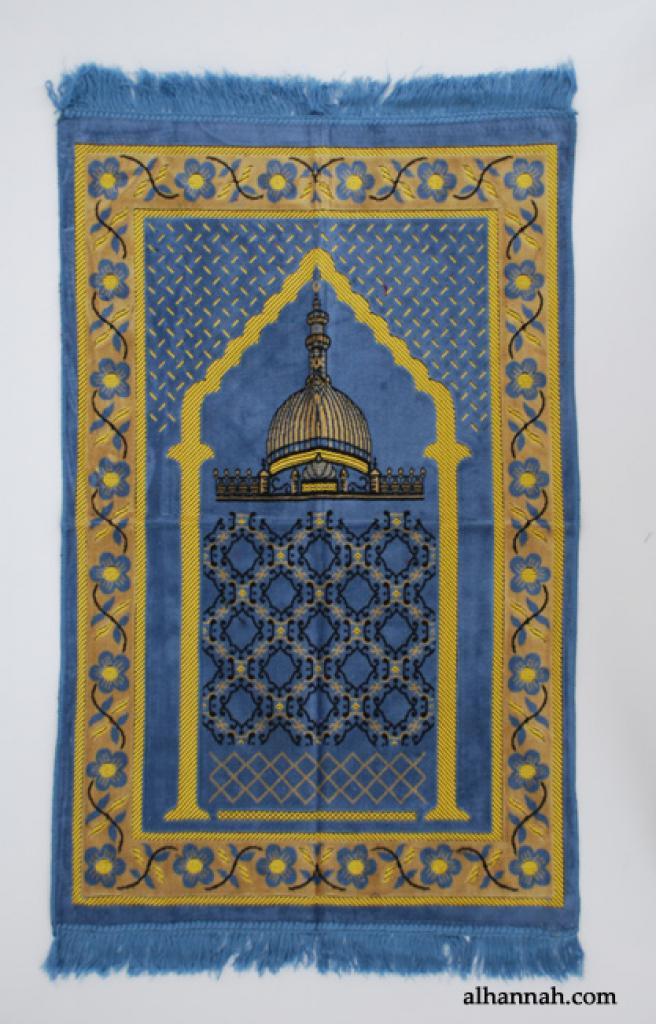 Embroidered Masjid Pattern Prayer Rug ii987