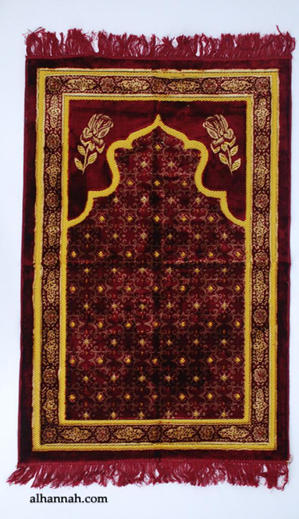 Embroidered Pattern Prayer Rug ii993