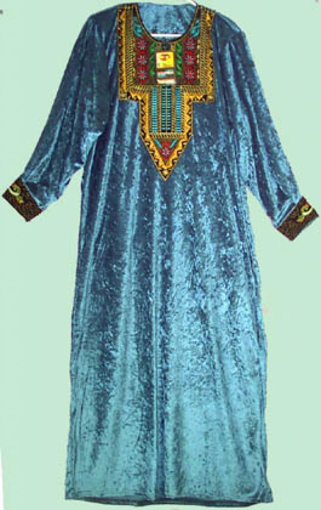 Velvet Embroidered Syrian Thobe ji115