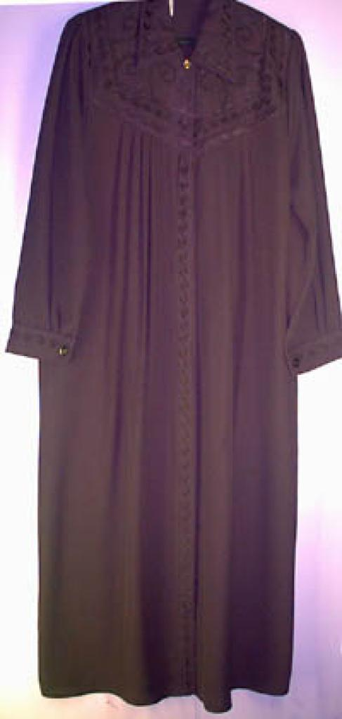 Classic Pleated Jilbab with matching embroidery ji116