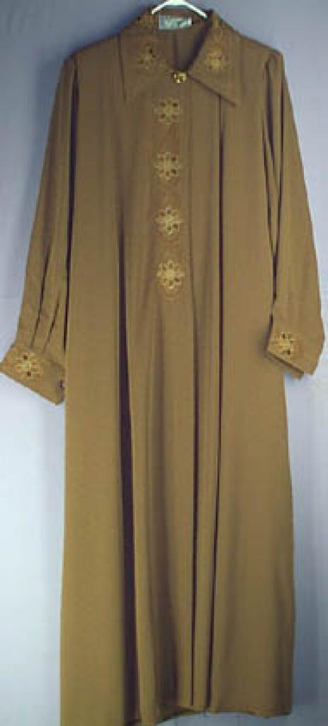 Jordanian Plus Sized Embroidered Jaquard  Jilbab ji127