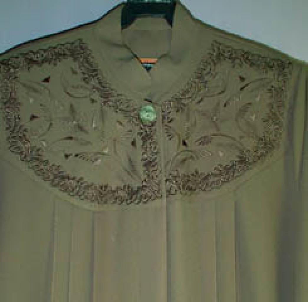 Plus Size Jordanian pleated and embroidered Jilbab ji239