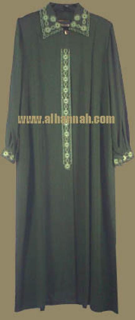 Jordanian A line Embroidered Jilbab  ji306