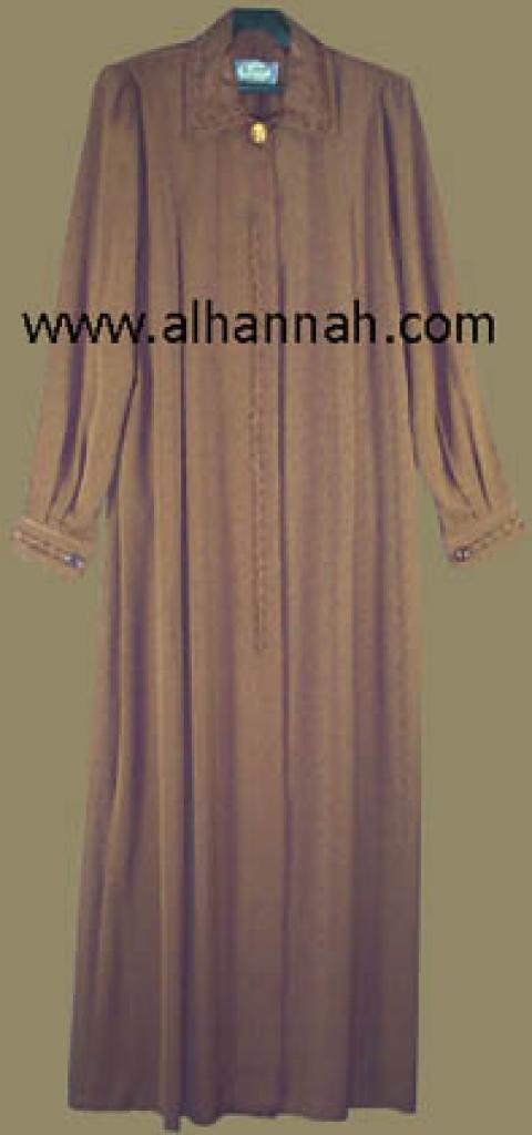 Jordanian A line Embroidered Jilbab ji406
