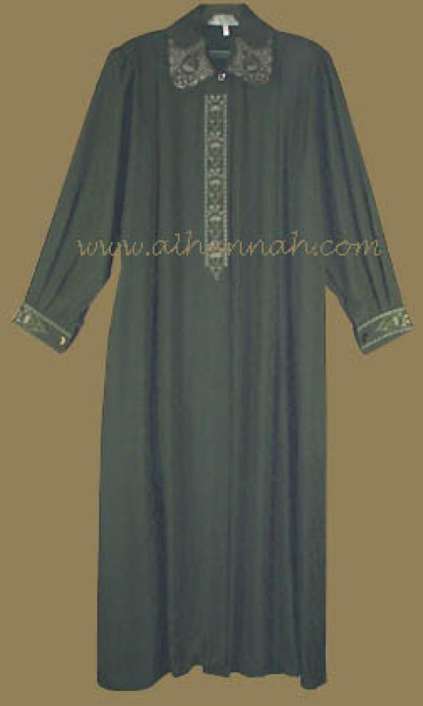 Premium Embroidered Jordanian Plus Size Jilbab   ji418
