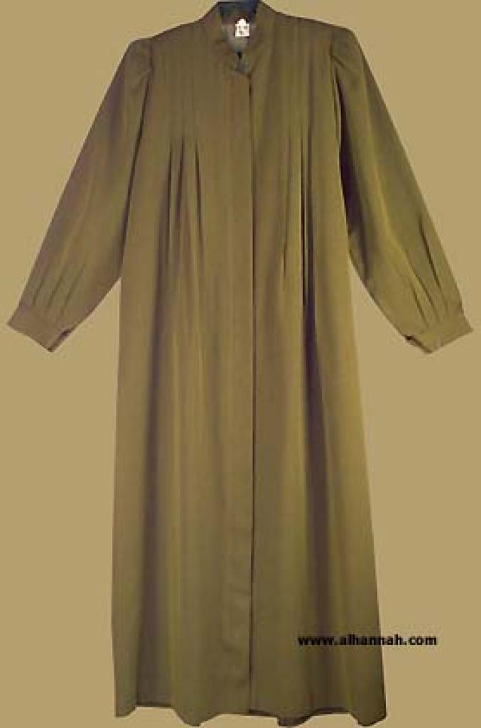 Pleated A-line jilbab   ji535