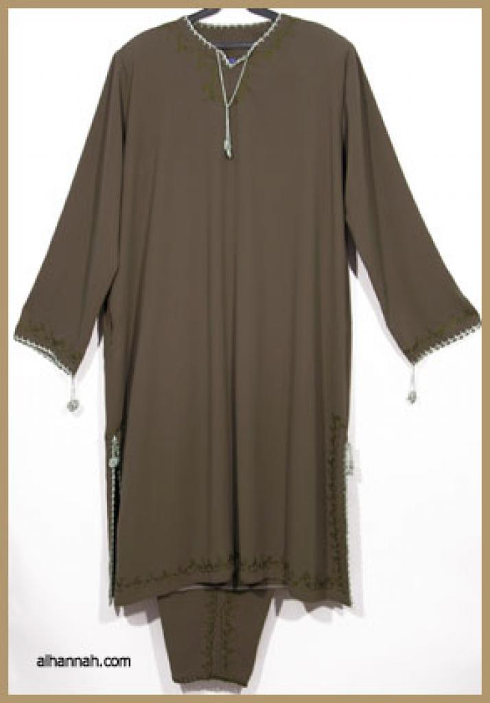 Jordanian Pants Suit with Embroidery ji576