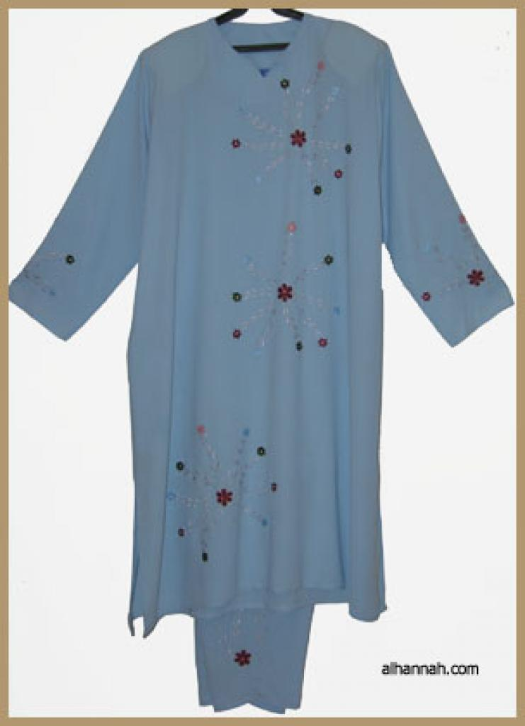 Jordanian Pants Suit with Embroidery ji577