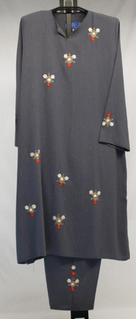 Floral Applique Jordanian Pants Suit  ji635