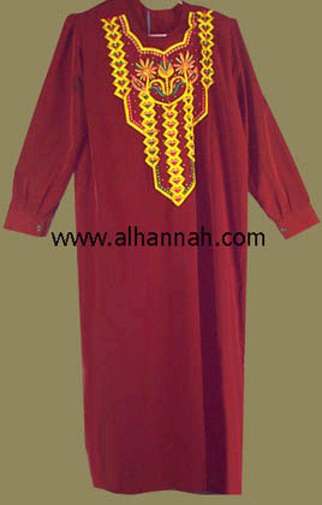 Embroidered Bedouin Style Thobe  jo407