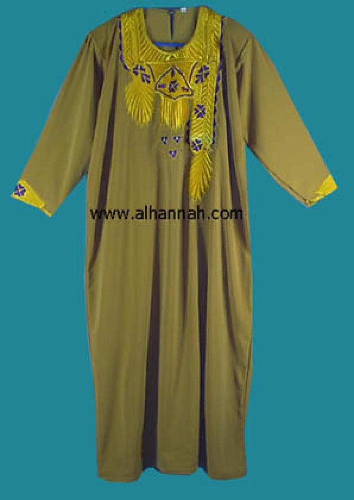 Embroidered Bedouin Style Thobe  jo409