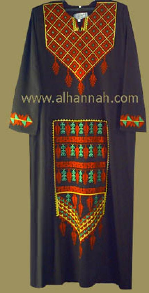 Embroidered Bedouin Style Thobe  jo411