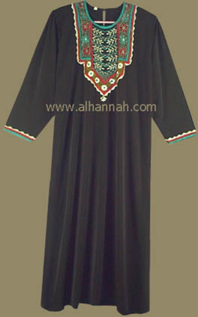 Embroidered Jordanian  Thobe  jo415