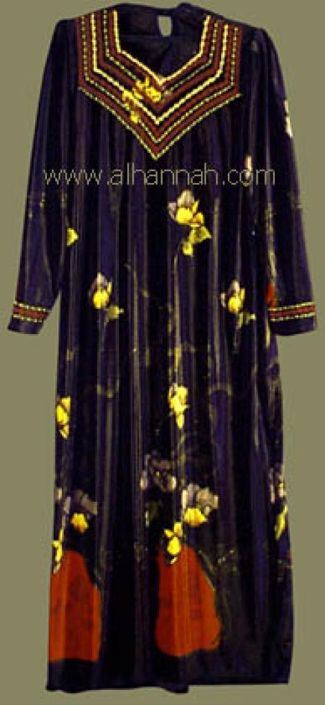 Embroidered Jordanian Velveteen Thobe  jo418