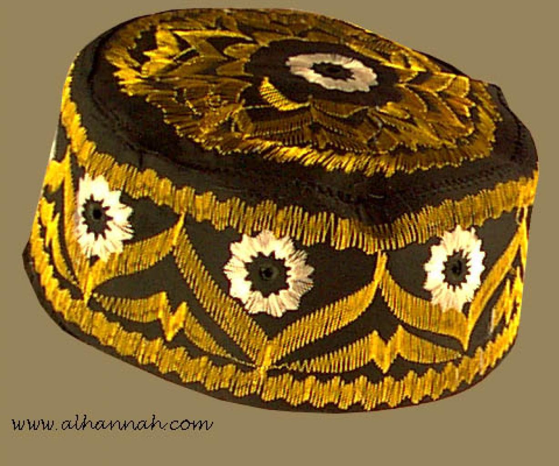 Black Embroidered Kufi me419