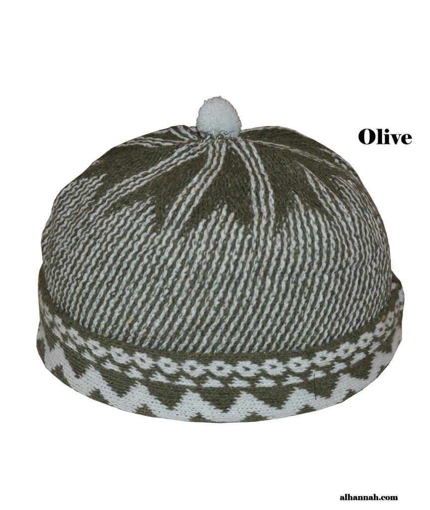 Muslim Wool-blend Knit Cap me422