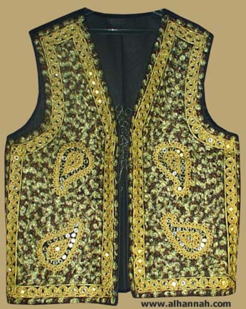 Mens Embroidered Vest me431