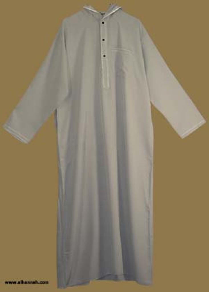 Men's Hooded Moroccan Style Thobe  me438