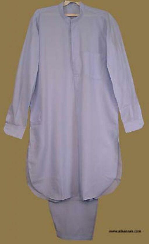 Men's Solid Color Salwar Kameez - No Embroidery   me439