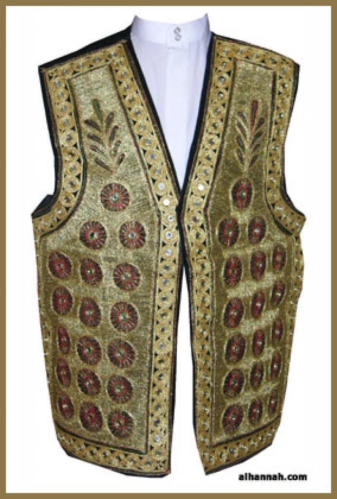 Mens Embroidered Vest me474