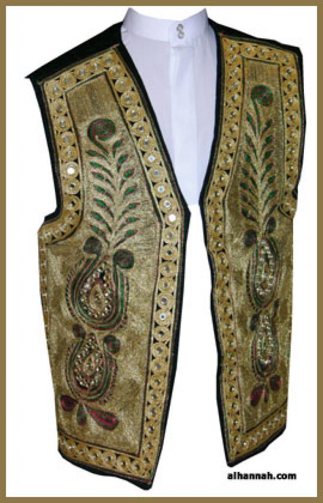 Mens Embroidered Vest me475