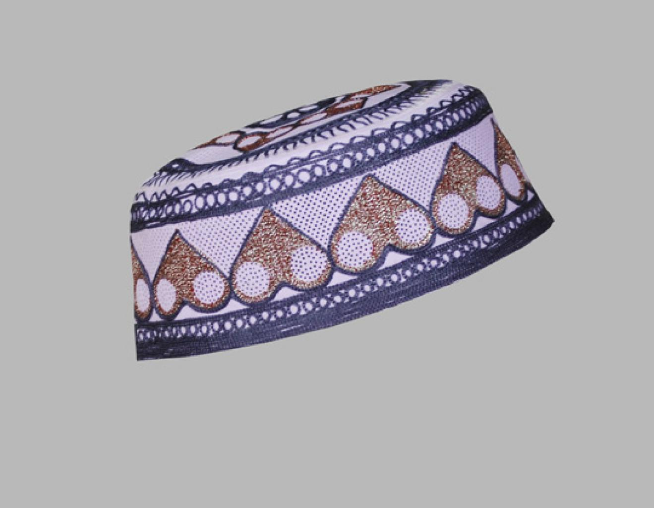 Men's Solid Kufi with Embroidery me543
