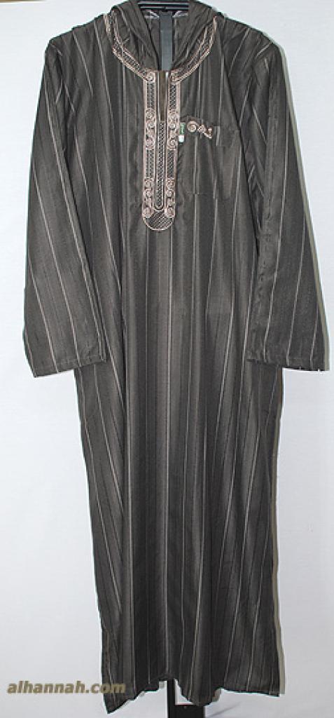 Deluxe Mens Moroccan Hooded Dishdasha me571
