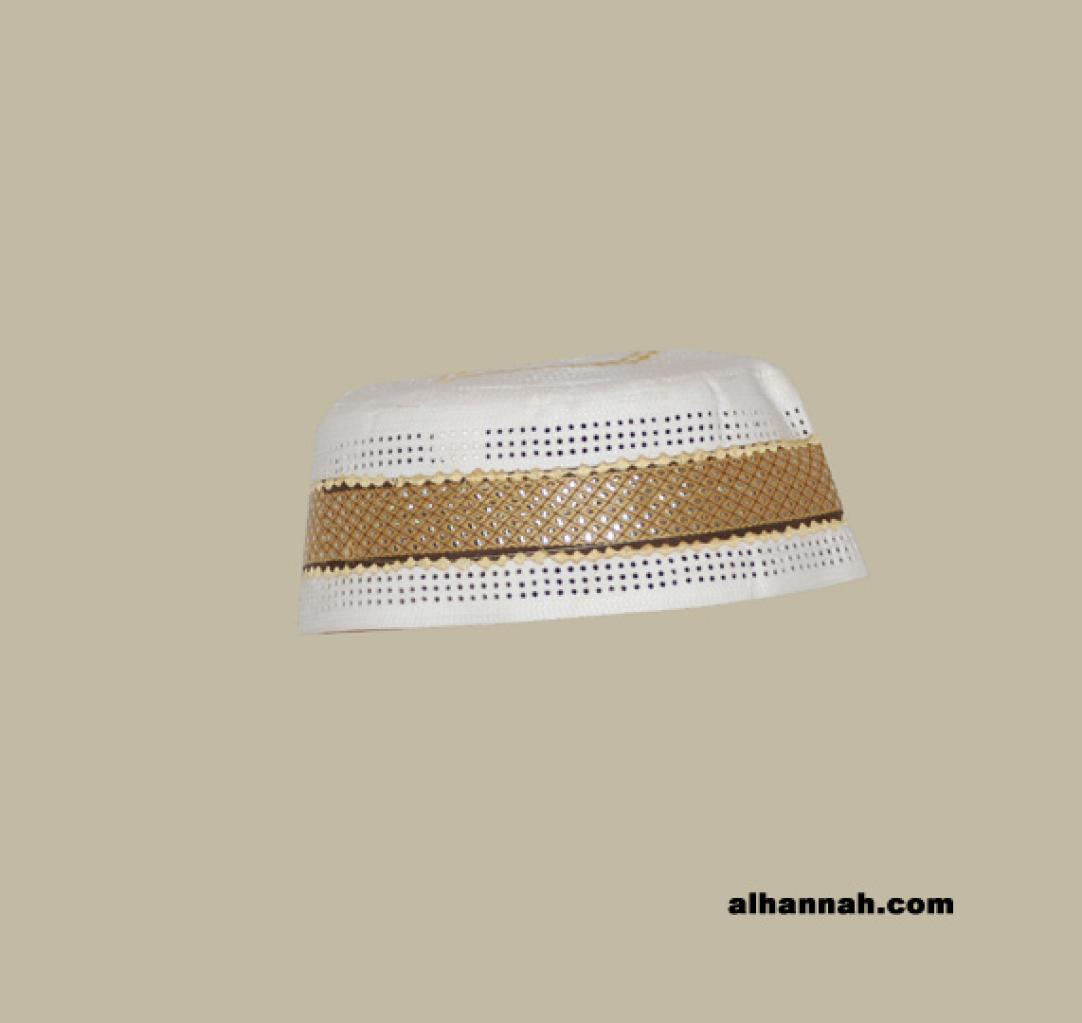 Men's Solid Kufi with Embroidery  me572