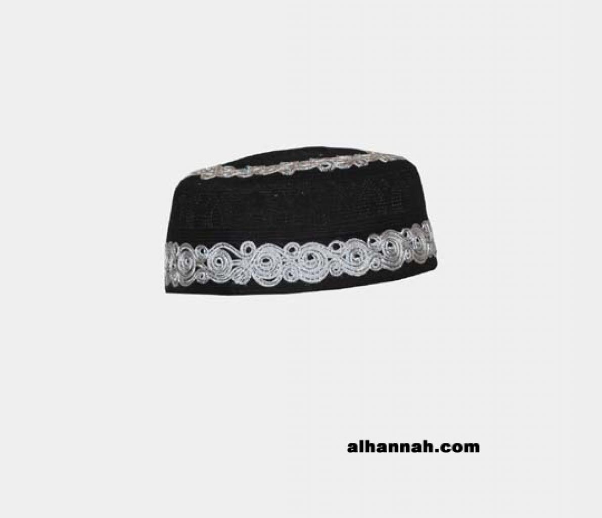 Men's Solid Kufi with Embroidery  me573