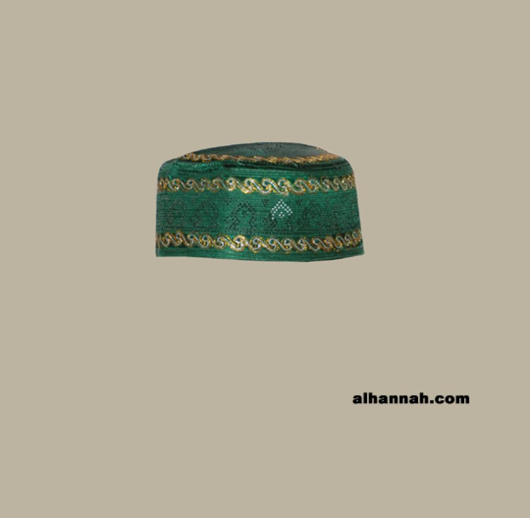Men's Solid Kufi with Embroidery me574