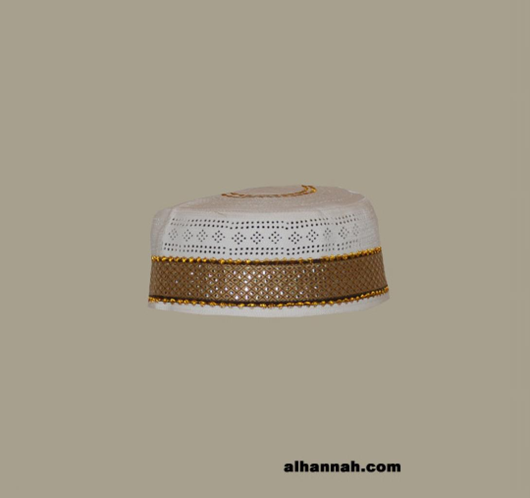 Men's Solid Kufi with Embroidery  me575